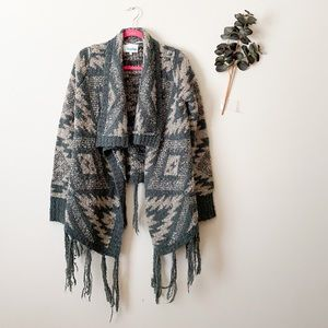 Miss Me Aztec Print Cardigan Size Medium